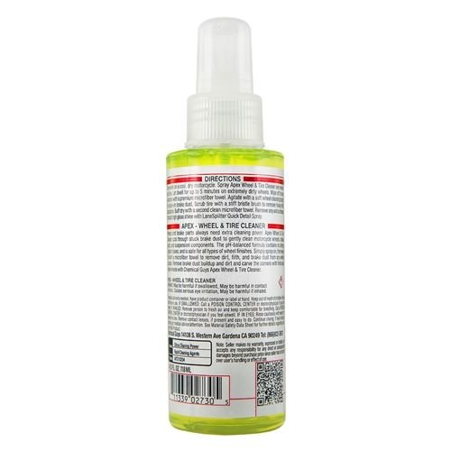 Chemical Guys Canada MTO10204 - Apex Wheel Cleaner Spray On, Wipe Off Wheel and Tire Cleaner for Motorcycles (4 oz)
