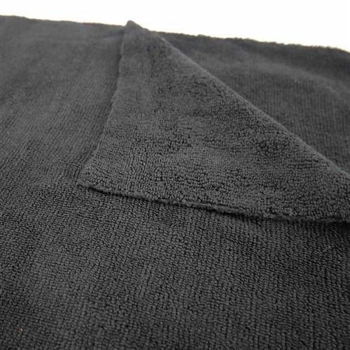 Chemical Guys Canada MIC_808 - Elegant Edgeless Microfiber Towel, Black 51'' x 30''