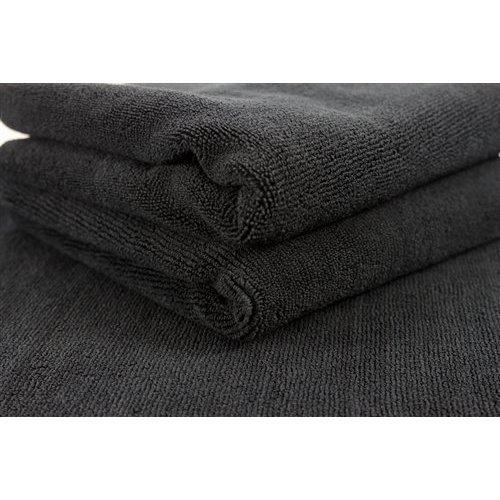 Chemical Guys MIC_805_3 - Monster Edgeless Microfiber Towel, Black 16'' x 16'' (3 PACK)