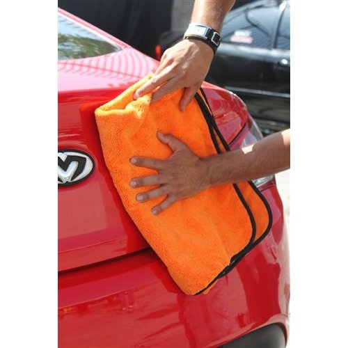 Chemical Guys MIC_725 - Premium Car Drying Microfiber Towel, Orange 25'' x 36''