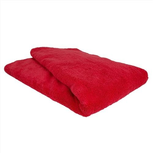 Chemical Guys MIC_723 - Chubby Supra Microfiber Towel, Red, 25'' x 36''