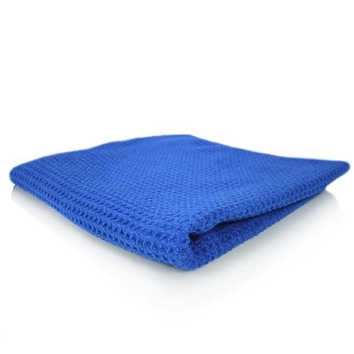 Chemical Guys Canada MIC_708_1 - Glass and Window Waffle Weave Towel, Blue 24'' x 16''