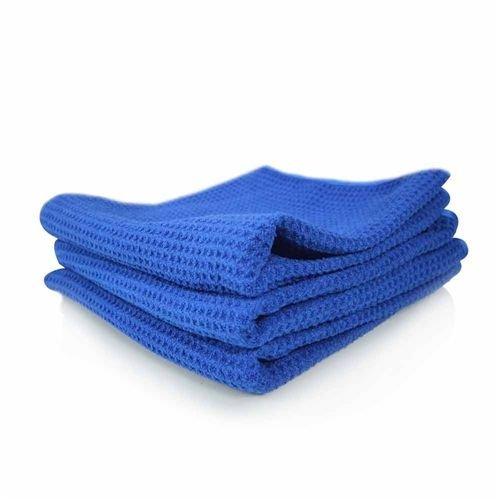 Chemical Guys MIC_708_1 - Glass and Window Waffle Weave Towel, Blue 24'' x 16''