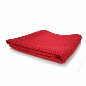 Chemical Guys MIC707- Glass and Window Waffle Weave Towel, Red 24'' x 16''