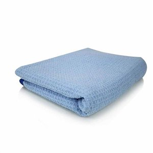 Chemical Guys Canada MIC_703S_01 - Waffle Weave Drying Microfiber Towel, Blue 26'' x 32''