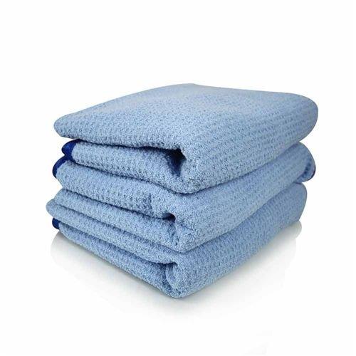 Chemical Guys MIC_703S_01 - Waffle Weave Drying Microfiber Towel, Blue 26'' x 32''