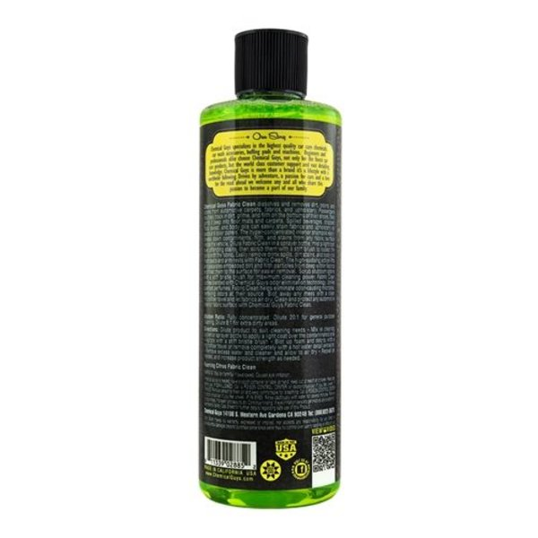 Chemical Guys Canada CWS20316 - Foaming Citrus Fabric Clean Carpet & Upholstery Shampoo & Odor Eliminator