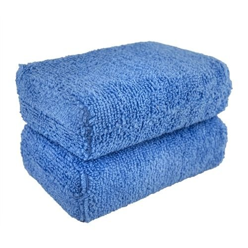 Chemical Guys Canada MIC_292_02 - Premium Grade Microfiber Applicator, 5'' x 3''x 1.5'' (2 Pack)