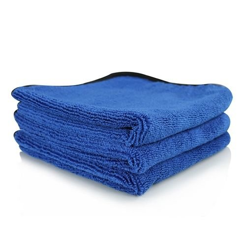 Chemical Guys Canada MIC110003 - Monster Extreme Thickness Microfiber Towel, Blue 16'' x 16'' (3 Pack)