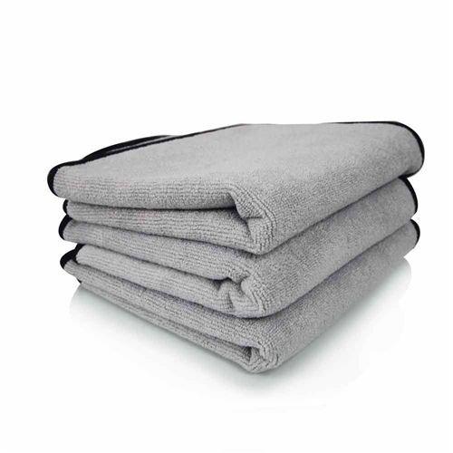 Chemical Guys MIC_1024_1 - Ultra Plush Micro-Cotton Microfiber Towel, Gray 24'' x 17''