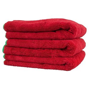 Chemical Guys MIC99703 - Fluffer Miracle Supra Microfiber Towel, Red 24'' x 16'' (3 Pack)