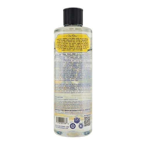 Chemical Guys Canada CWS30316 - Citrus Wash Clear Hydrophobic Free Rinse Car Wash Soap (16oz)