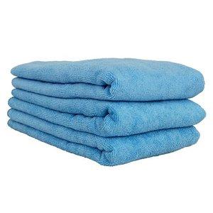 Chemical Guys MIC36303 - Workhorse XL Blue Professional Grade Microfiber Towel, 24'' x 16'' (Windows), 3 Pack