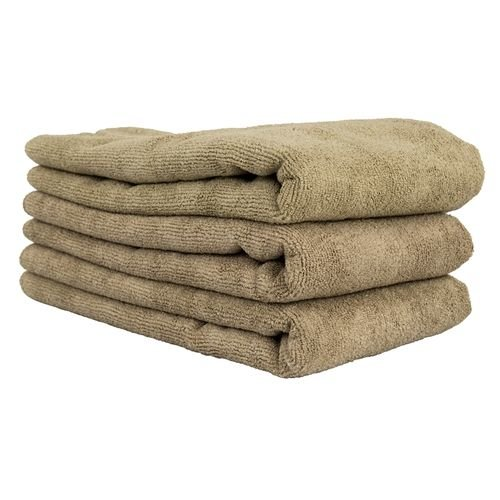 Chemical Guys Canada MIC36203 - Workhorse XL Tan Professional Grade Microfiber Towel, 24'' x 16'' (Leather & Vinyl) - 3 Pack