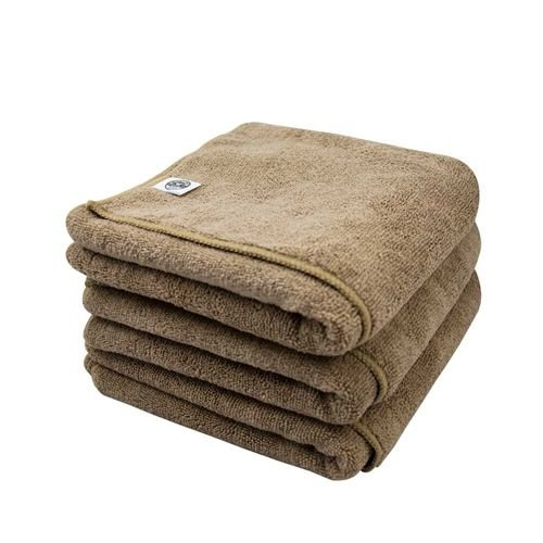 Chemical Guys MIC36203 - Workhorse XL Tan Professional Grade Microfiber Towel, 24'' x 16'' (Leather & Vinyl) - 3 Pack