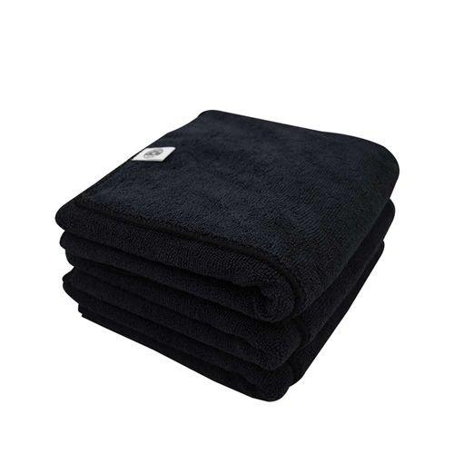 Chemical Guys Canada MIC36103 - Workhorse XL Black Professional Grade Microfiber Towel, 24'' x 16'' (Rubber/Plastic/Vinyl) - 3 Pack