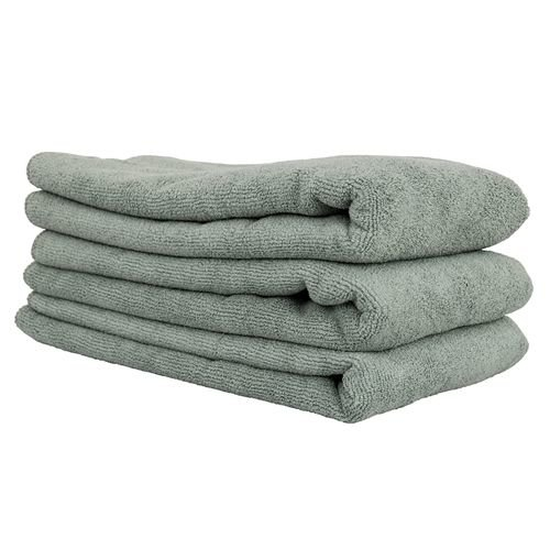 MIC36003 - Workhorse XL Gray Professional Grade Microfiber Towel, 24'' x 16'', (Metal) - 3 Pack