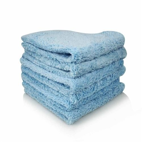 Chemical Guys Canada MIC32103 - Shaggy Fur-Ball Microfiber Towel, Blue 16'' x 16'' (3 PACK)