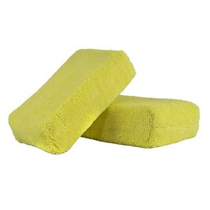 Chemical Guys Canada MIC29902 - Workhorse Yellow Premium Grade Microfiber Applicator, (Interior) 5'' x 3'' x 1.5'' (2 Pack)