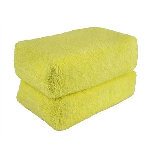 Chemical Guys MIC28902 - Workhorse Yellow Premium Grade Microfiber Applicator, (Interior) 5'' x 3'' x 1.5'' (2 Pack)