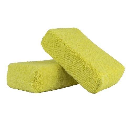 Chemical Guys Canada MIC29902 - Workhorse Yellow Premium Grade Microfiber Applicator, (Interior) 5'' x 3'' x 1.5'' (2 Pack)
