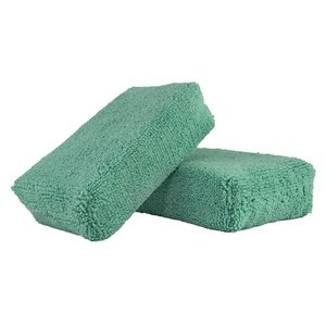 Chemical Guys Canada MIC29802 - Workhorse Green Premium Grade Microfiber Applicator, (Exterior Paint) 5'' x 3'' x 1.5'' (2 Pack)