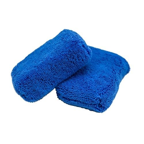 Chemical Guys Canada MIC29602 - Monster Fluff Exterior Premium Microfiber Applicator, Blue, 3'' x 5'' x 2'' (2 Pack)