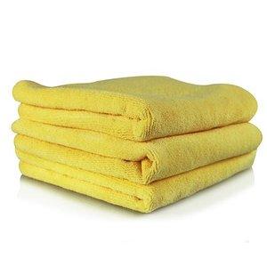 Chemical Guys MIC10303 - Ultra Fine Microfiber Towel, Yellow 15'' x 15'' (3 Pack)