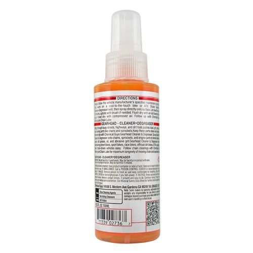 Chemical Guys Canada MTO10804 - Gearhead Motorcycle Cleaner & Degreaser for Drivechains and Engine Parts (4 oz)