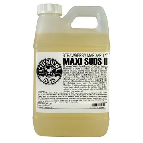 Chemical Guys Canada CWS_1011_64 - Maxi-Suds II Strawberry Margarita Super Suds Car Wash Shampoo (64 oz. - 1/2 Gal)