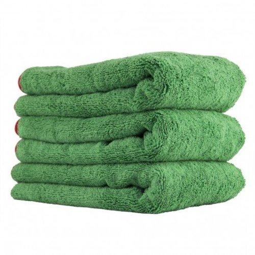 Chemical Guys MIC99503 - Fluffer Miracle Supra Microfiber Towel, Green 24'' x 16'' (3 Pack)