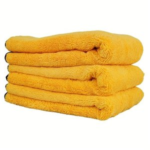 Chemical Guys Canada MIC_507_03 - Professional Grade Premium Microfiber Towel with Silk Edges, Gold 24'' x 16'' (3 Pack)