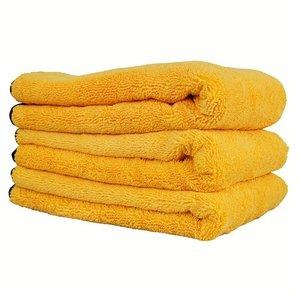 Chemical Guys MIC_507_03 - Professional Grade Premium Microfiber Towel with Silk Edges, Gold 24'' x 16'' (3 Pack)