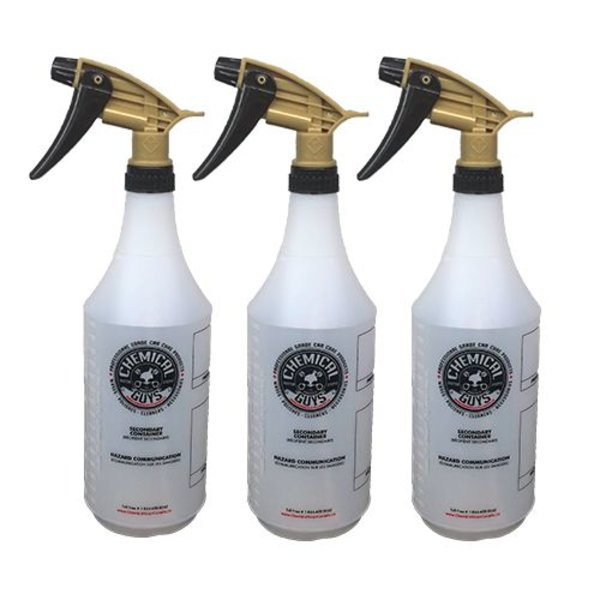 Chemical Guys Canada ACC_136_03 - Tolco Gold Standard Acid Resistant Sprayer with Heavy Duty Bottle (32 oz) (3 pack)