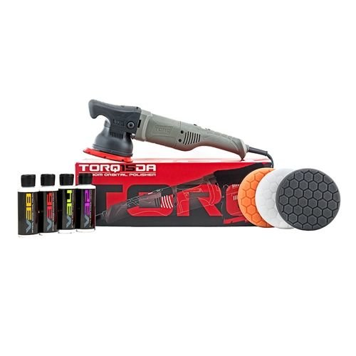 TORQ BUF505X - TORQ15DA 15mm Long-Throw Random Orbital Polisher Kit (8 Items)