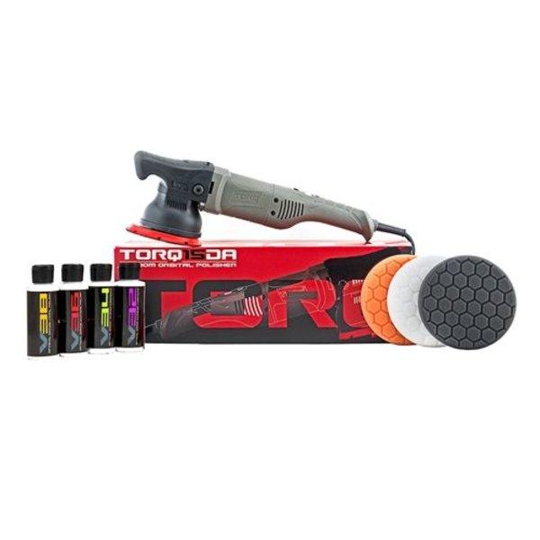 TORQ BUF505X - TORQ TORQ15DA 15mm Long-Throw Random Orbital Polisher Kit (8 Items)