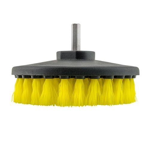 Chemical Guys ACC_201_BRUSH_MD - Carpet Brush w/ Drill Attachment, Medium Duty, Yellow
