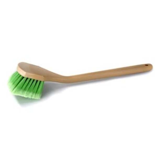 Chemical Guys Canada ACC_G01 - Long Handle Body & Wheel Brush with Flagged-Tip Bristles, Angled Head (20 Inches)