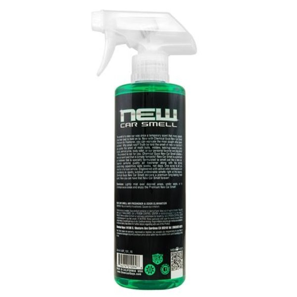 Chemical Guys Canada AIR_101_16 - New Car Smell Premium Air Freshener & Odor Eliminator (16 oz)