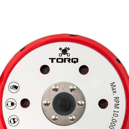 TORQ BUFLC_202 - TORQ R5 Dual-Action Red Backing Plate with Hyper Flex Technology (6 inch)