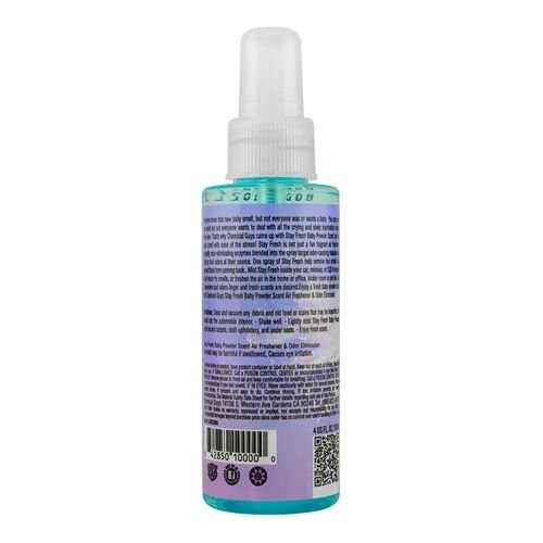 Chemical Guys AIR23404 - Stay Fresh Baby Powder Scented Premium Air Freshener (4 oz)