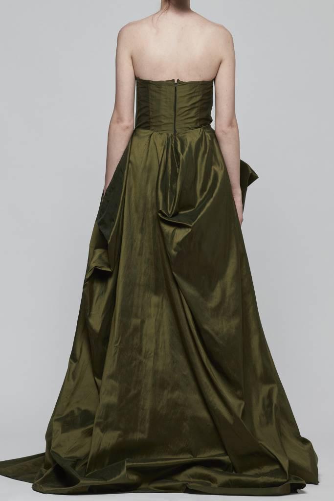 Strapless Silk Taffeta Evening Gown-2