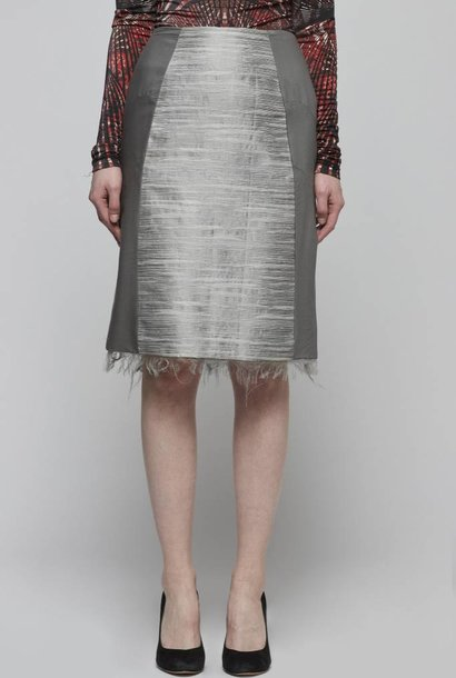 Straight Shantung Skirt