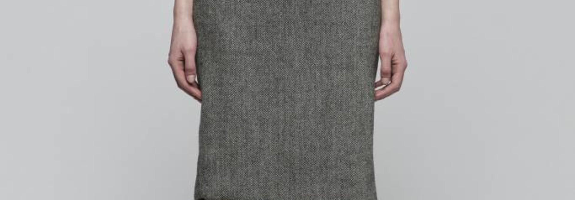 Faux Belt Strapless Dress
