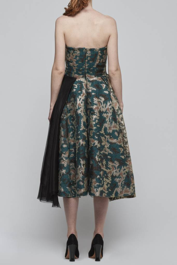 Brocade Strapless Dress-2
