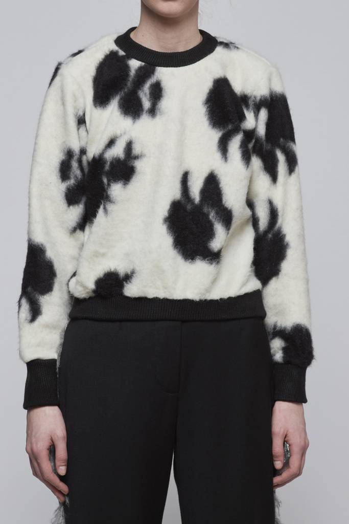 Floral  Print Sweater-2
