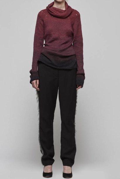 High Neck Handknitted Sweater