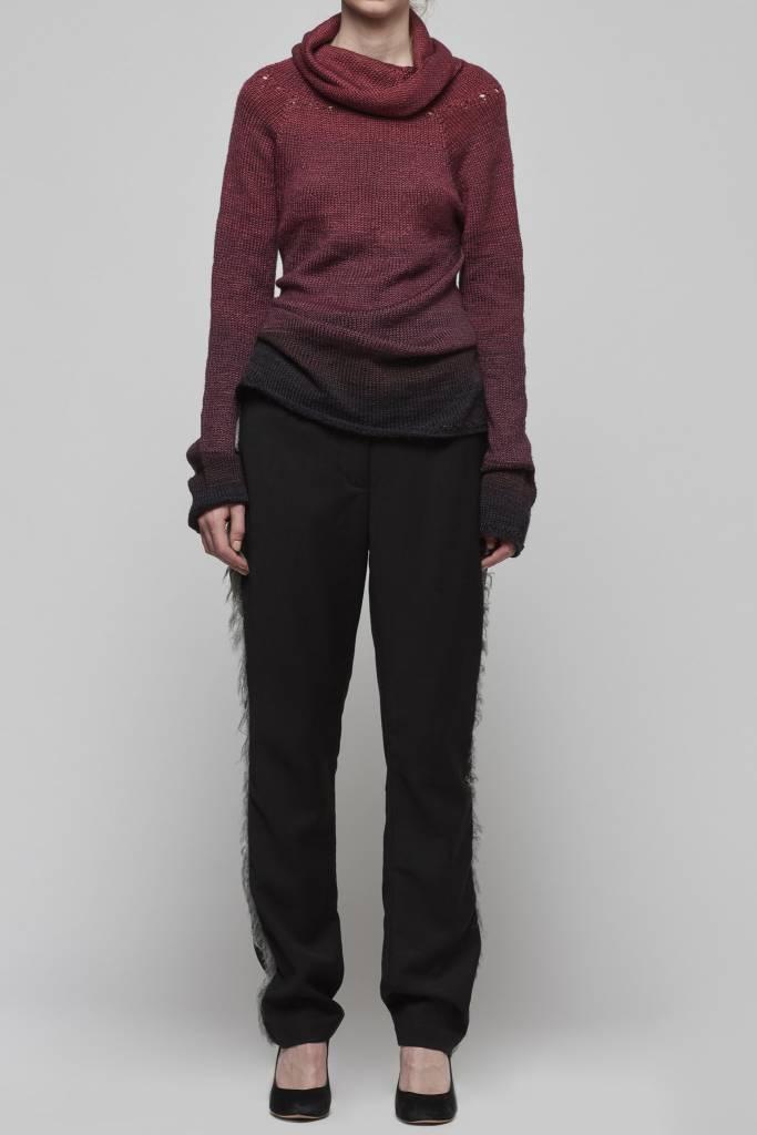 High Neck Handknitted Sweater-1