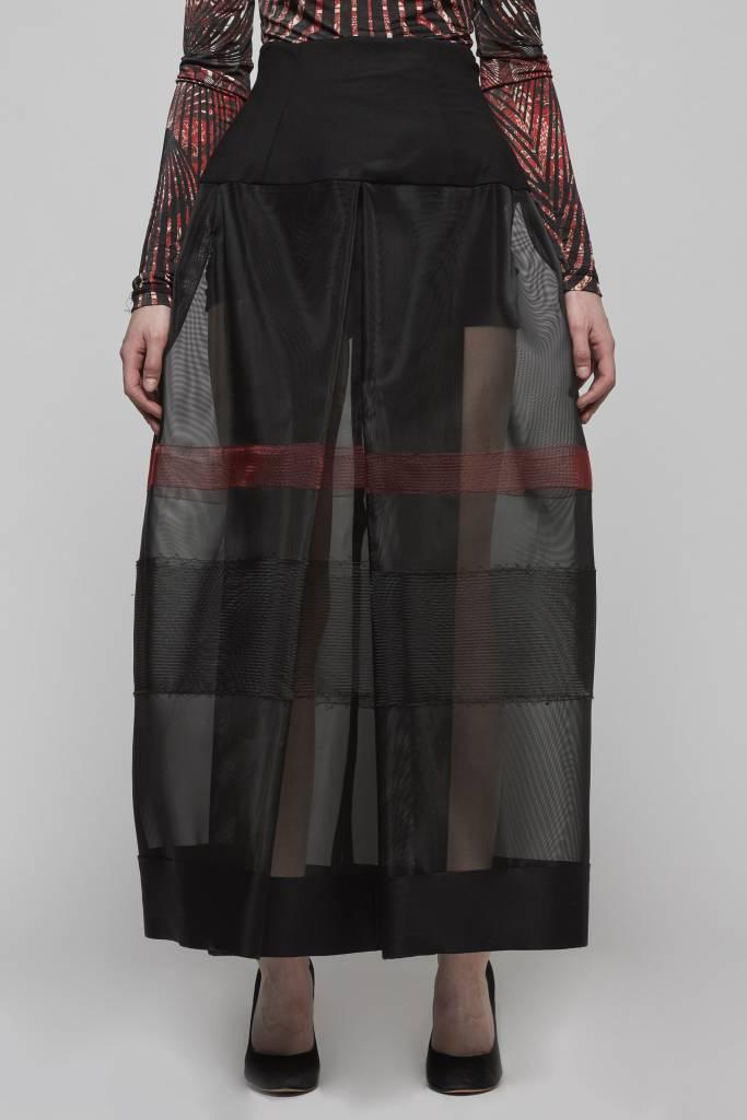 Horsehair High Waisted Skirt-2