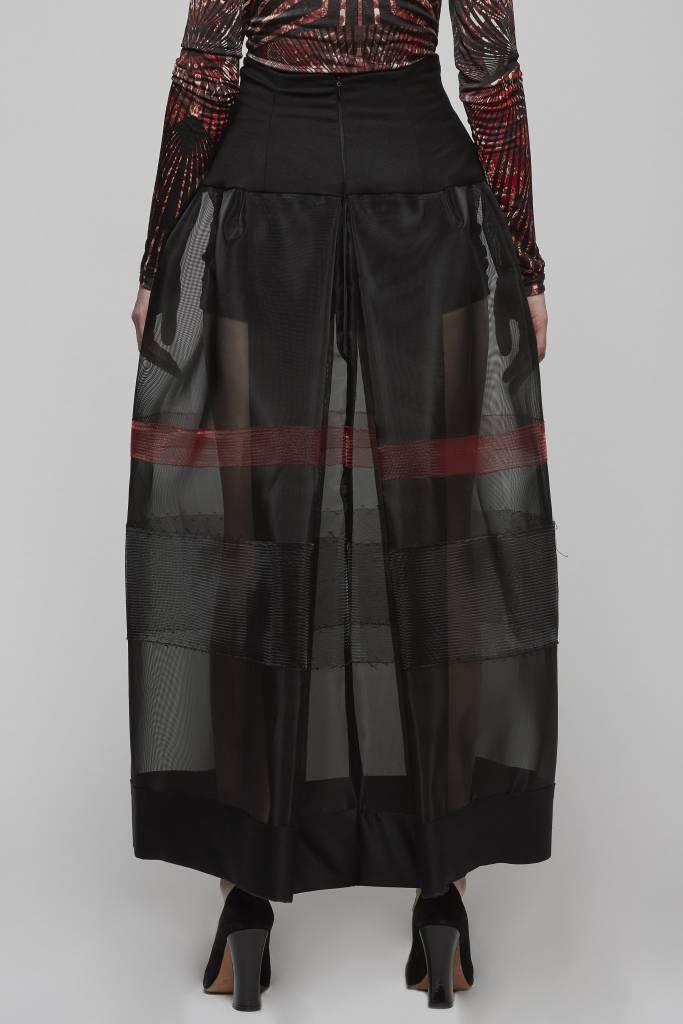 Horsehair High Waisted Skirt-3